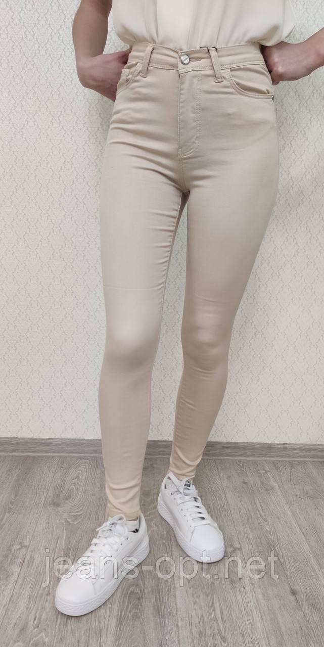 Кольорові джинси жіночі бежевий Arox 11.2