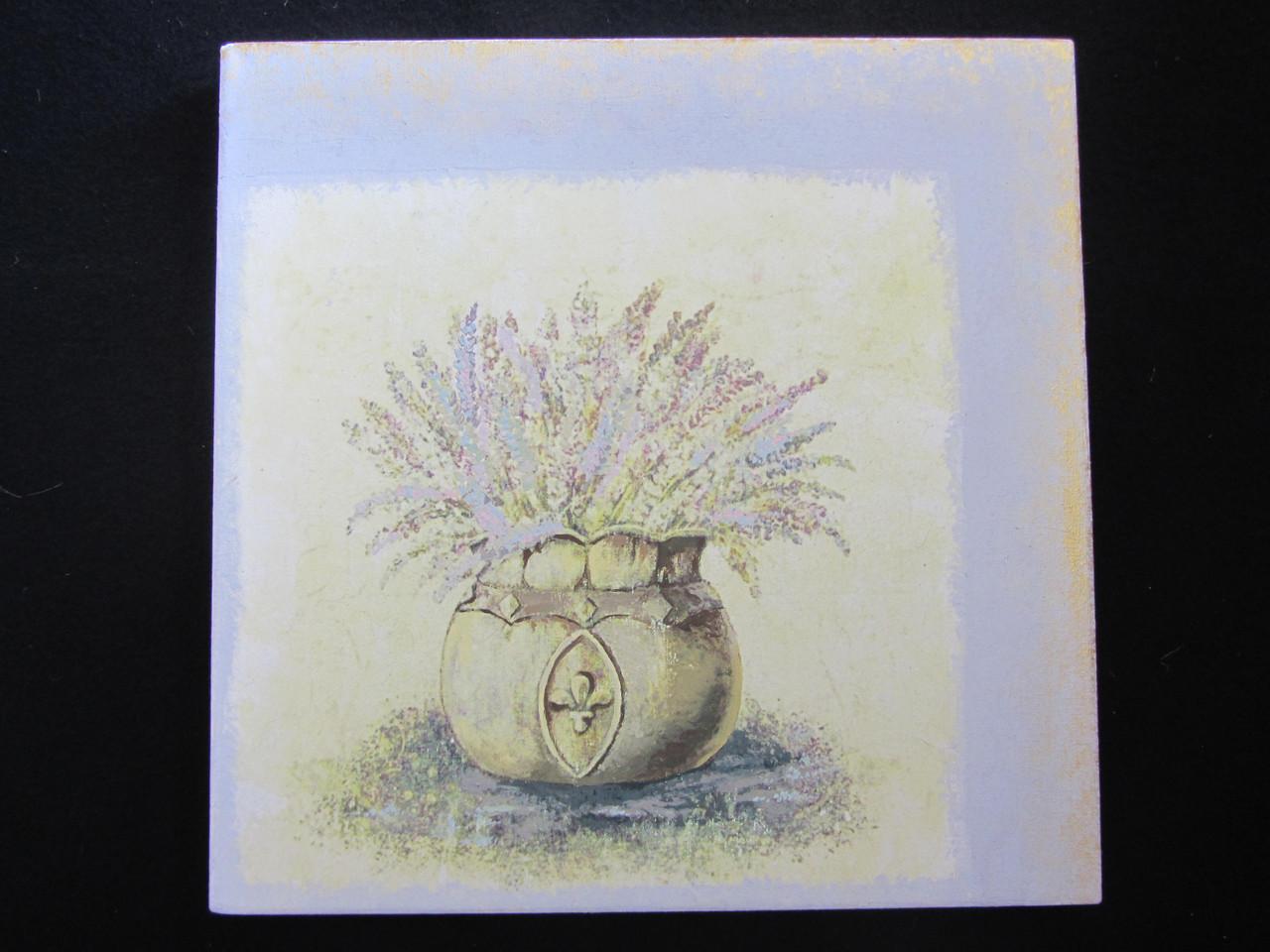 Картина на холсте в технике декупаж, 25х25 см, 125\95  (цена за 1 шт.+30 грн)