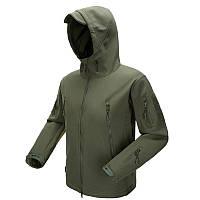 Куртка тактическая демисезонная Softshell Зеленая (Софтшелл) S/M/L/XL/2XL/3XL/4XL