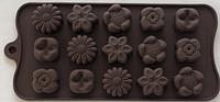 """Силиконовая форма для конфет """"Цветы"""" арт. 840-15A41644"""