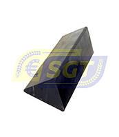 Демпфер трикутний L=190, гумовий амортизатор на борону Tolmet