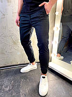 Мужские черные  брюки в клетку
