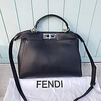 Женская стильная сумка Фенди Fendi Peekaboo c глазами реплика