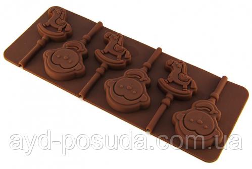 """Силіконова форма для цукерок """"Мавпочка і кінь"""" арт. 840-621"""