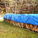 Тент 4х6 плотность 65 тарпаулин Польша Plandeka Пландека синий цвет с люверсами, фото 5