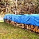 Тент 5х8 плотность 65 тарпаулин Польша Plandeka Пландека синий цвет с люверсами, фото 3