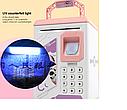 Детский сейф копилка с кодовым замком и отпечатком пальца арт 906, цвет розовый Robot Bodyguard, фото 2