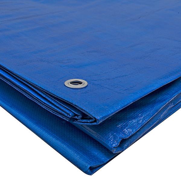 Тент 8х10 плотность 65 тарпаулин Польша Plandeka Пландека синий цвет с люверсами