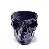 Черный череп органайзер или пепельница (конфетница, визитница, ключница), фото 3