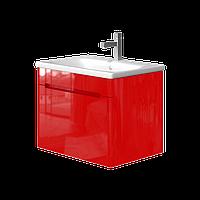 Тумба с раковиной Ювента Tivoli (Тиволи) TV-65 красная, 650х500х455 мм