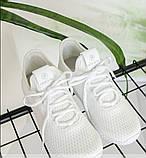 Кроссовки женские белая-сетка, фото 4