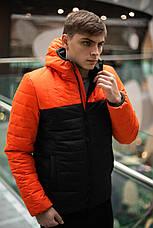 """Мужская демисезонная куртка Intruder """"Temp""""  (оранжевая - черная) размер S 46 M 48 L 50 XL 52, фото 2"""