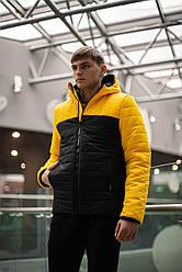 "Мужская демисезонная Куртка ""Temp"" бренда Intruder (желтая - черная) размер S 46 M 48 L 50 XL 52"