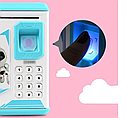 Детский сейф копилка с кодовым замком и отпечатком пальца арт 906, цвет розовый Robot Bodyguard, фото 3