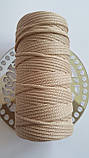 Полиэфирный шнур без сердечника 5мм №5 Кэмел, фото 3