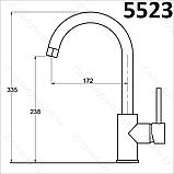 Кухонный смеситель AquaSanita Sabia 5523.001 хромированный, фото 2