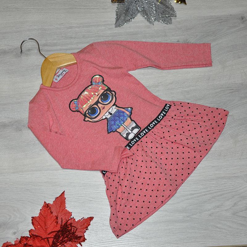 Детское трикотажное платье, размер 1-4 года (4 ед. в уп.) оранжевый
