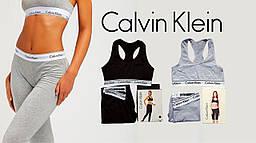 Женский спортивный комплект Кельвин Кляйн  лосины + топ комплект лосины и топ для фитнеса