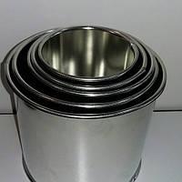Набор форм металлических для выпечки куличей (5шт) (8,/ 9.5, /10.5/12/14см, фото 1