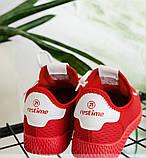Кроссовки женские красная-сетка, фото 2