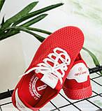 Кроссовки женские красная-сетка, фото 3