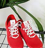 Кроссовки женские красная-сетка, фото 4