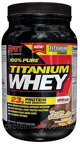 SAN Сывороточный протеин 100% Pure Titanium Whey 907 г