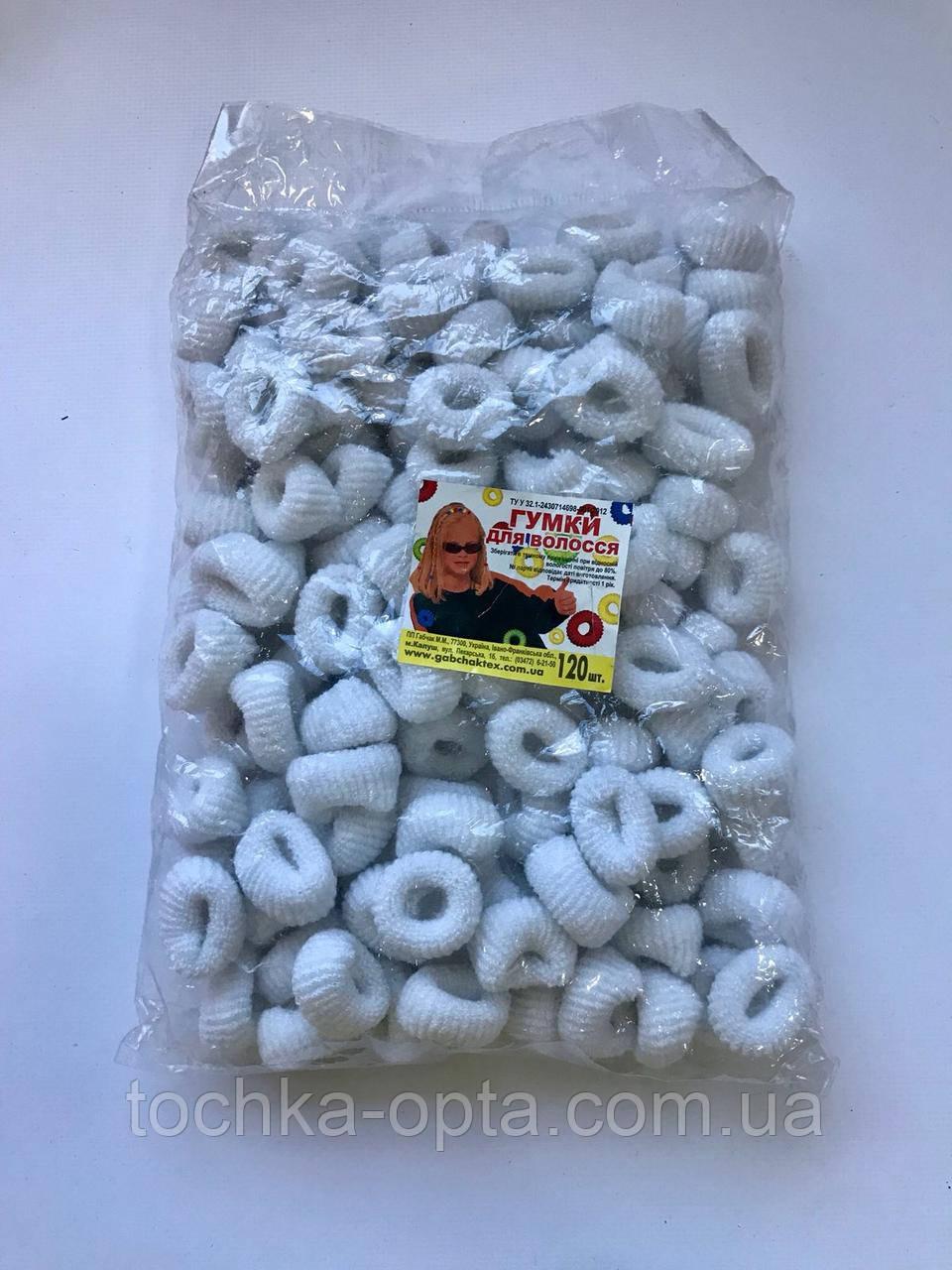 Резинки  махра белые 120 штук