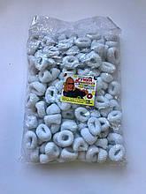 Резинки  махра белые 120 штук средние