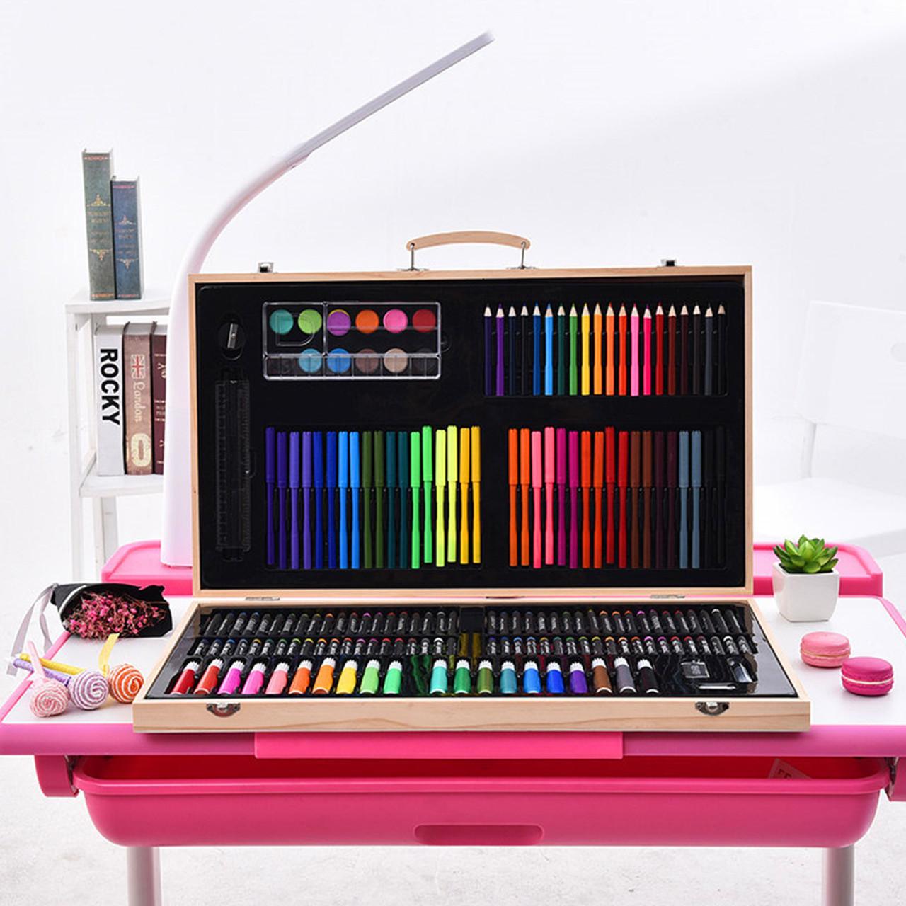 Большой набор для рисования Painting Set 180 предметов детского творчества цветные карандаши фломастеры
