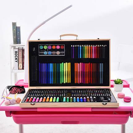 Большой набор для рисования Painting Set 180 предметов детского творчества цветные карандаши фломастеры, фото 2