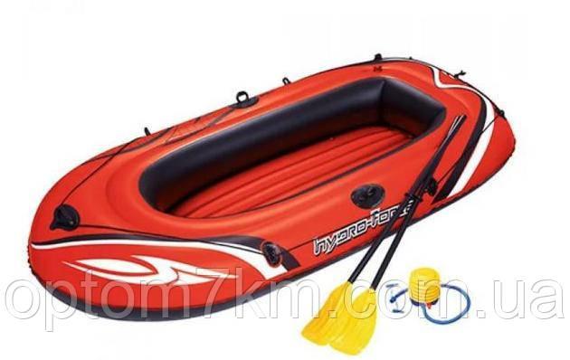 Лодка надувная Bestway Hydro-Force Raft Set 1чел (весла+ножной насос) 188-98см