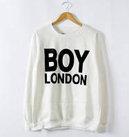 Свитшот мужской белый с принтом Boy London Бой Лондон
