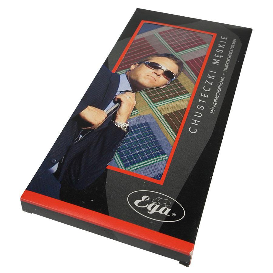 Оригінальний набір якісних чоловічих носових хусток EGA 6 шт СН-007/6 Р