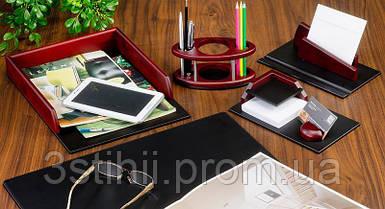 Набор настольный Bestar из дерева 5 предметов 5152HDU Красное дерево
