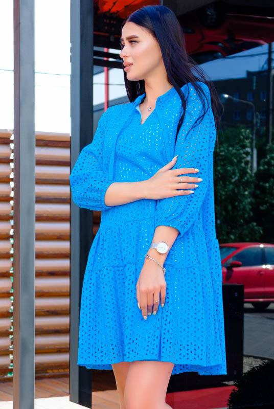 Голубое платье из прошвы Натали
