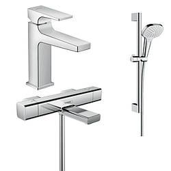 Набор смесителей для ванны 3 В 1 HANSGROHE 157742020 (15774000, 32507000, 26582400)