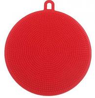 Силиконовая щётка для мытья посуды Ø11 см арт. 840-6-27