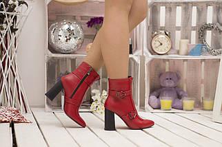 Женские демисезонные ботинки на каблуке с элегантными пряжками 36-40 р, фото 2