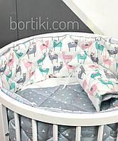 Комплект постельного в кроватку с стеганными бортиками