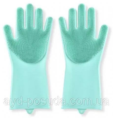 Силиконовые перчатки для мытья посуды арт. 840-617528