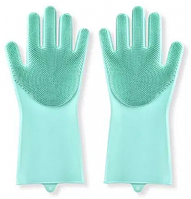 Силіконові рукавички для миття посуду арт. 840-617528
