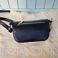 Жіноча шкіряна сумка бананка через плече і на поясі, фото 7