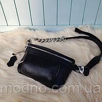 Жіноча шкіряна сумка бананка через плече і на поясі, фото 5