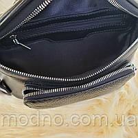 Жіноча шкіряна сумка бананка через плече і на поясі, фото 8