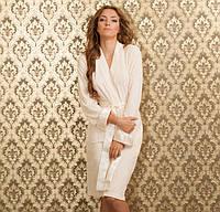 Бамбуковый халат Boncasa  KIM LADY LAVANDA S крем