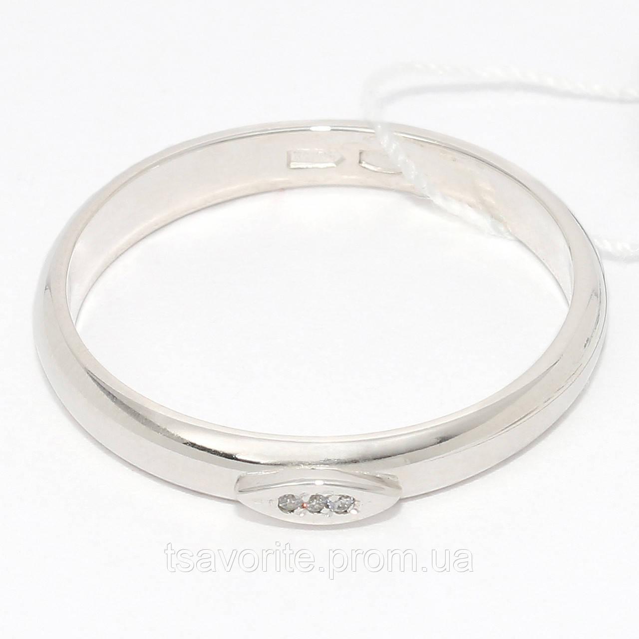 Серебряное обручальное кольцо КЖХ-3