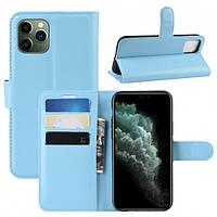 Чехол-книжка Litchie Wallet для Apple iPhone 11 Pro Max Blue