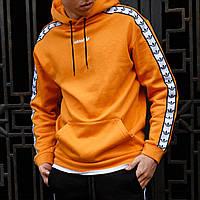 Кофта мужская Adidas х orange весенняя осенняя летняя | Худи мужское Адидас с капюшоном ЛЮКС качества