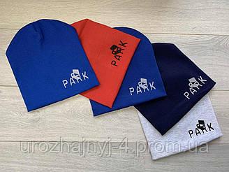 Трикотажная шапка на подкладке х/б р50-52 упаковка 5шт